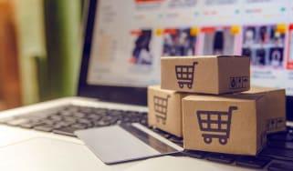 Concept art of online shopping