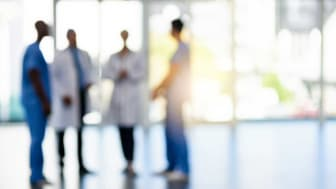 picture of blurred healthcare workers