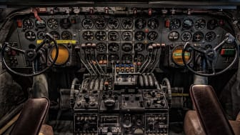 A picture of a cockpit