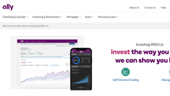 Screenshot of Ally Invest home page
