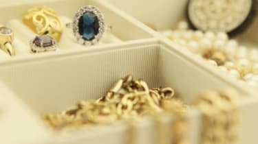 Jewelry in a box