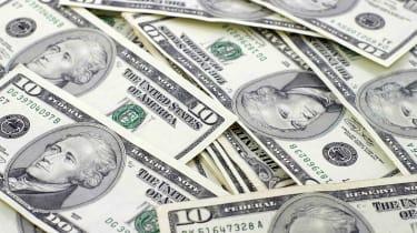 pile of 10-dollar bills
