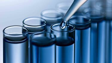analyzing samples in test tubes
