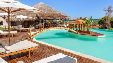 poolside at resort