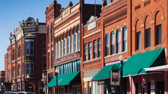 Renovated building in downtown Guthrie, Oklahoma