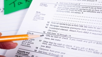 picture of tax form for reporting itemized deductions