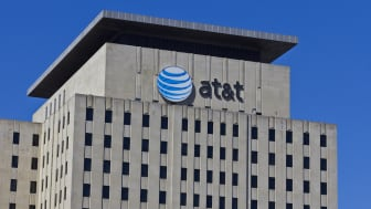 Indianapolis, US - March 29, 2016: AT&T Indiana Headquarters. AT&T Inc. is an American Telecommunications Corporation VI