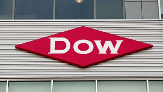 MIDLAND, MI - DECEMBER 10:The Dow Chemical logo is shown on a building in downtown Midland, home of the Dow Chemical Company corporate headquarters, December 10th, 2015 in Midland, Michigan.
