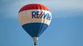 Readington, NJ, USA - July 30, 2011: Since its debut in 1978, the RE/MAX balloon has made thousands of appearances at ballooning festivals, sporting events, and charitable functions around th