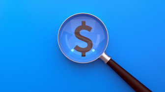 A magnifying glass over a dollar sign