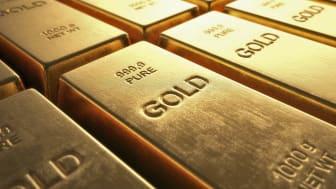 Gold bullion, computer illustration.