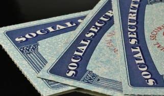 Three Social Security cards