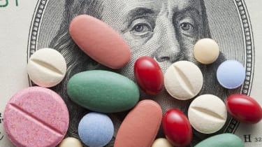 Pills on US dollars.