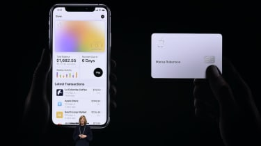 CUPERTINO, CA - MARCH 25: Jennifer Bailey, vice president of Apple Pay, speaks during an Apple product launch event at the Steve Jobs Theater at Apple Park on March 25, 2019 in Cupertino, Cal