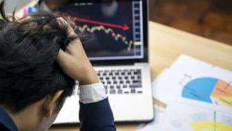 Man angry at stock losses.