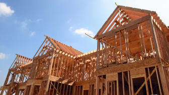 wooden housing frame