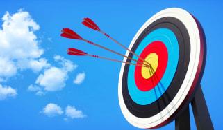 arrows hitting a target