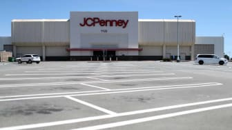 SAN BRUNO, CALIFORNIA - MAY 15: The parking lot in front of a JCPenney store at The Shops at Tanforan Mall on May 15, 2020 in San Bruno, California. JCPenney avoided bankruptcy after the comp