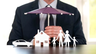 concept of family, car and home insurance