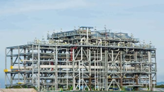 Photo of a LNG processing facility