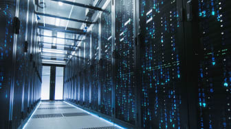 A picture of a data center.