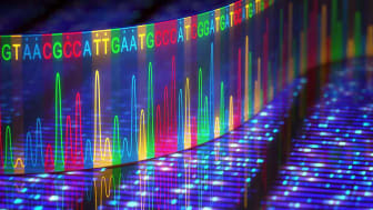 Concept art of DNA sequencing