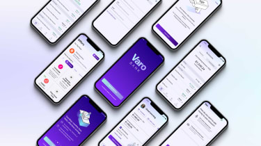 Photo of multiple smartphones with fintech apps