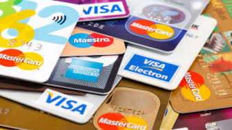 photo illustration of credit cards