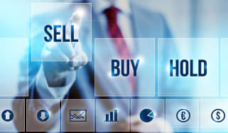 concept of investor selling stock
