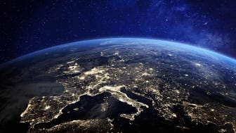 Image of Earth from space, focused on Europe