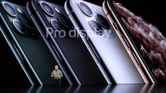 CUPERTINO, CALIFORNIA - SEPTEMBER 10: Apple's senior vice president of worldwide marketing Phil Schiller talks about the new iPhone 11 Produring an Apple special event on September 10, 2019 i