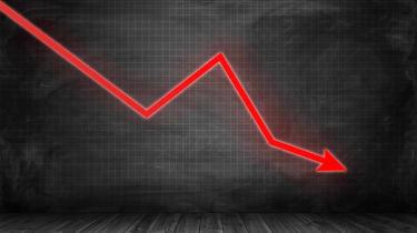 stocks declining graphic