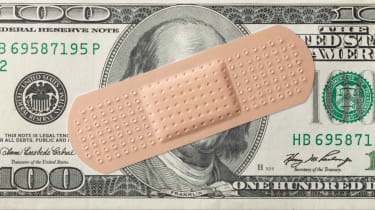 A Band-Aid on a $20 bill.