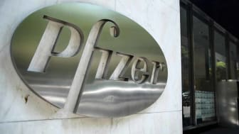 NEW YORK, NY - JULY 29: The Pfizer world headquarters stands in Midtown Manhattan on July 29, 2019 in New York City. On Monday morning, Pfizer announced the merger of its off-patent drug busi
