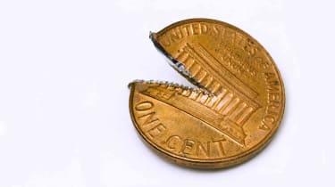 A torn penny