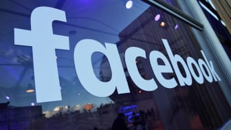 BERLIN, GERMANY - FEBRUARY 24:The Facebook logo is displayed at the Facebook Innovation Hub on February 24, 2016 in Berlin, Germany. The Facebook Innovation Hub is a temporary exhibition spac