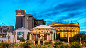 Las Vegas, United States - March 19, 2019: Caesars Palace, a luxury hotel and casino which uses the Roman Empire Theme
