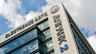 Bucharest, Romania - May 12, 2015: Electronic Arts (EA) Games, is an American developer, marketer, publisher and distributor of video games headquartered in California.