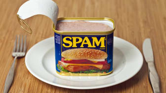 Richmond, Virginia, USA - May 23rd, 2013:Opened Can Of SPAM On A Dinner Plate.