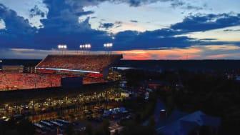 Auburn, Ala., night view of Tigers football stadium