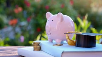 coins saving money increase investment to student loan for concept fund finance scholarship and education