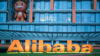 Hangzhou, China - March 25, 2018: The main building in the headquarter of Alibaba group in Hangzhou. Alibaba, founded by Jack Ma, is the biggest e-business company in China.