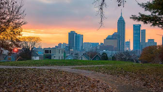 picture of an Indiana city skyline
