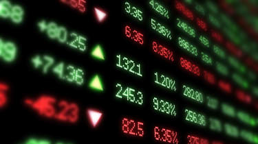 A list of stock tickers