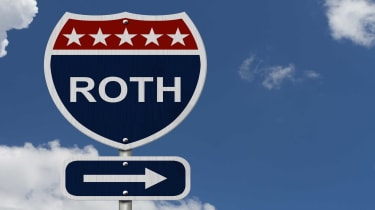 "highway sign that reads ""roth"""