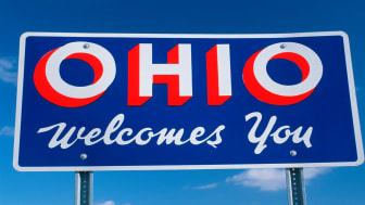 picture of welcome to Ohio road sign