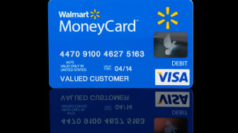The front of a Walmart Visa card