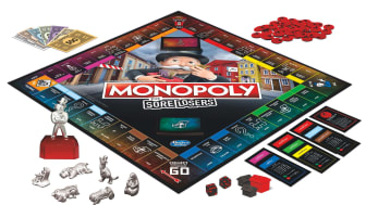 A Monopoly board