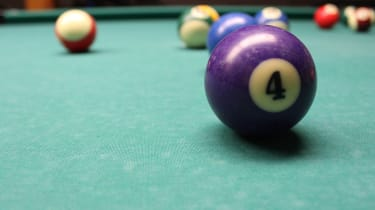 picture of the four ball on a pool table
