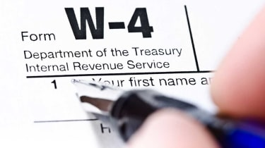 picture of W-4 form